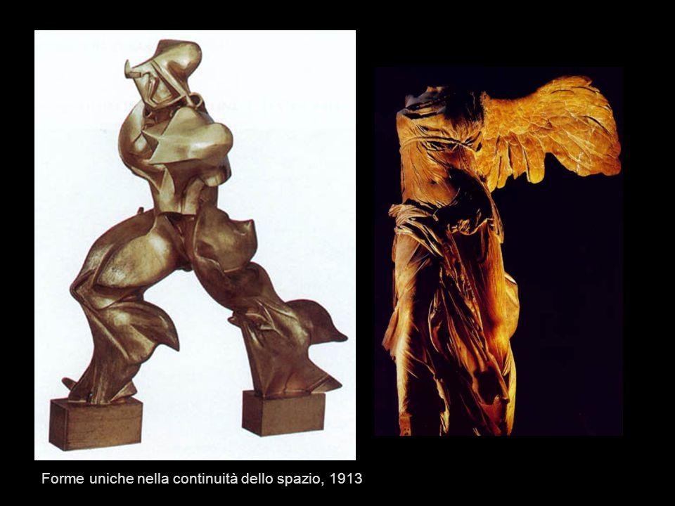 Forme uniche nella continuità dello spazio, 1913