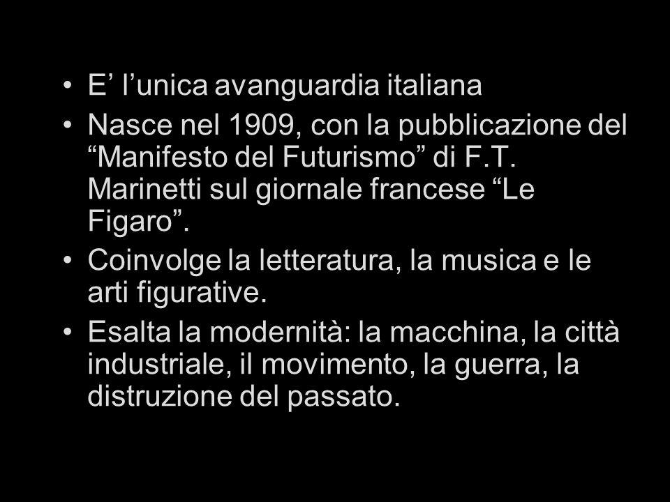 E' l'unica avanguardia italiana