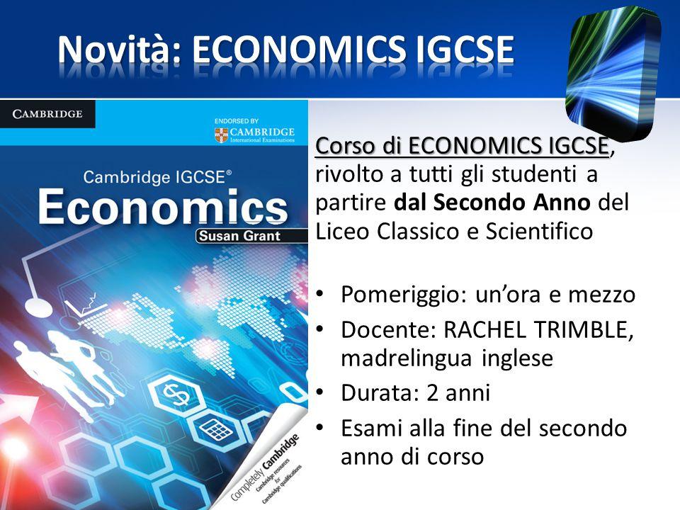 Novità: ECONOMICS IGCSE