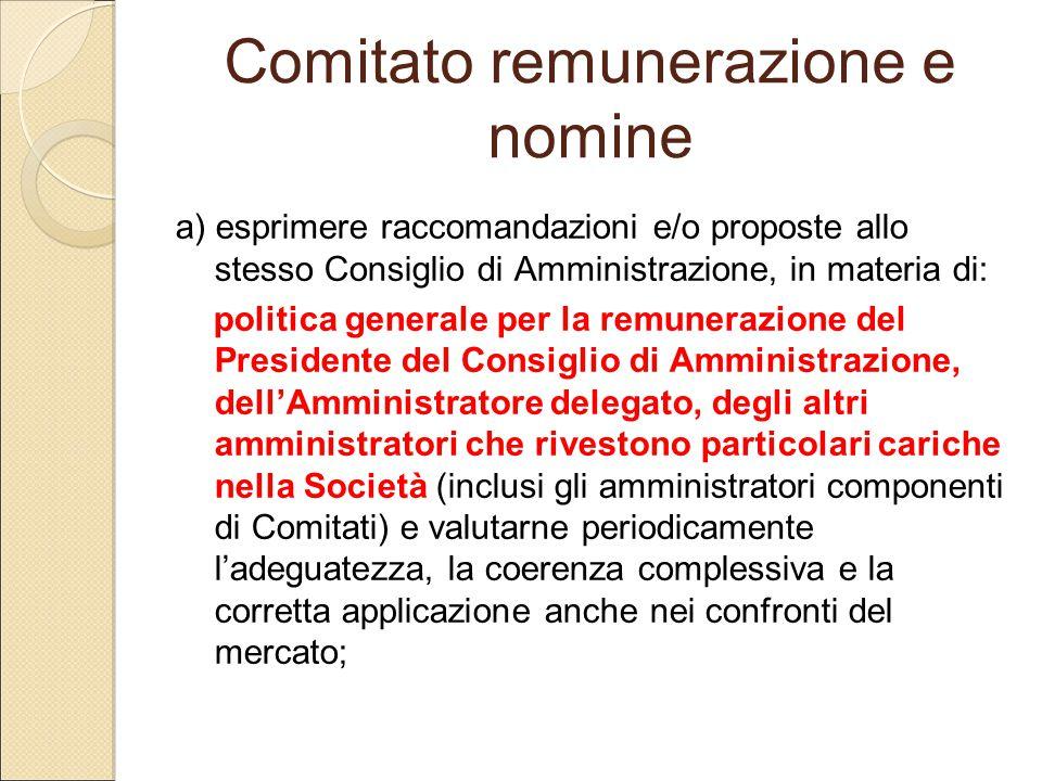 Comitato remunerazione e nomine