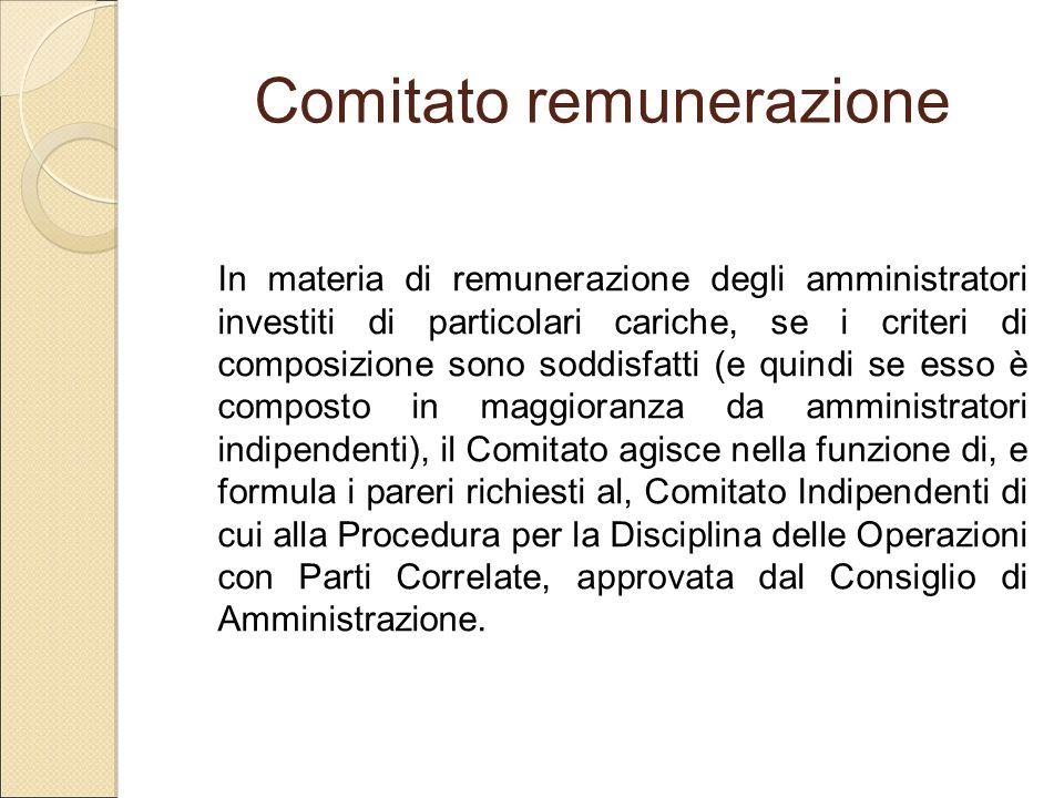 Comitato remunerazione