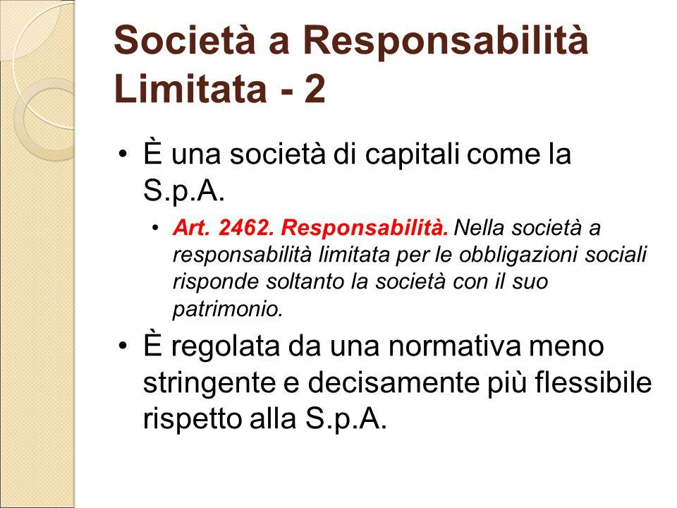Società a Responsabilità Limitata - 2
