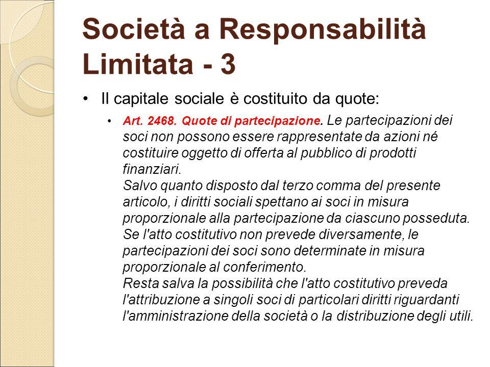 Società a Responsabilità Limitata - 3