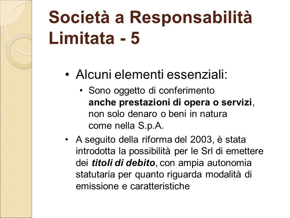 Società a Responsabilità Limitata - 5