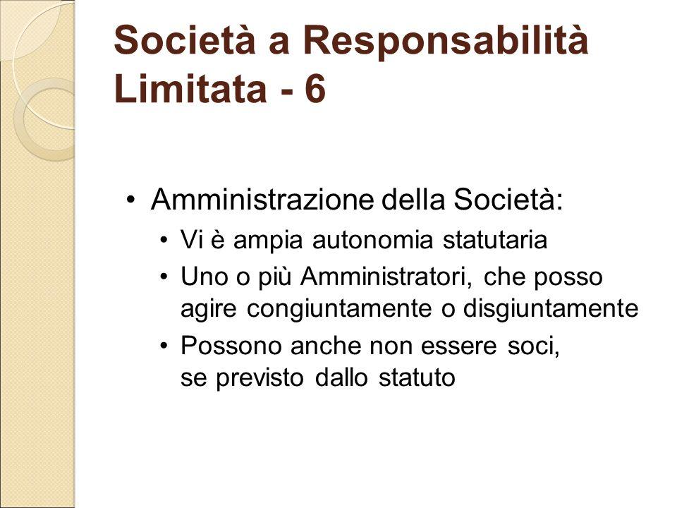 Società a Responsabilità Limitata - 6