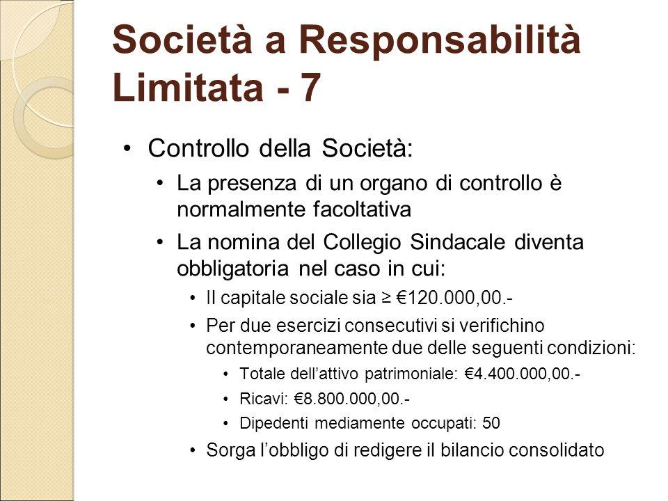 Società a Responsabilità Limitata - 7