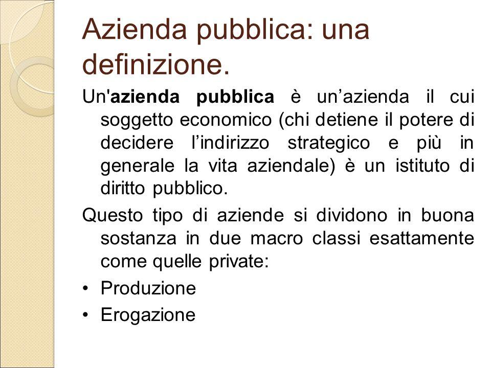Azienda pubblica: una definizione.
