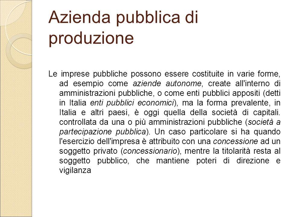 Azienda pubblica di produzione