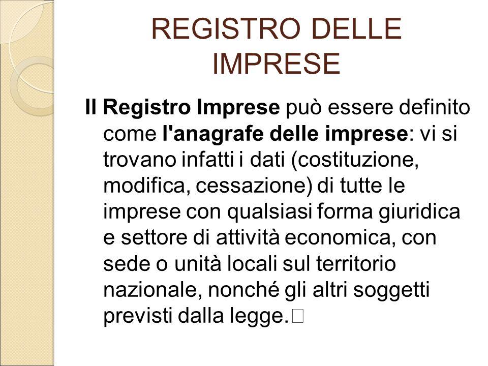 REGISTRO DELLE IMPRESE