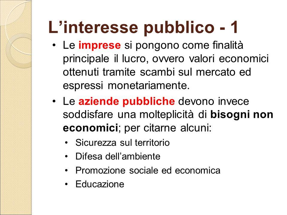 L'interesse pubblico - 1