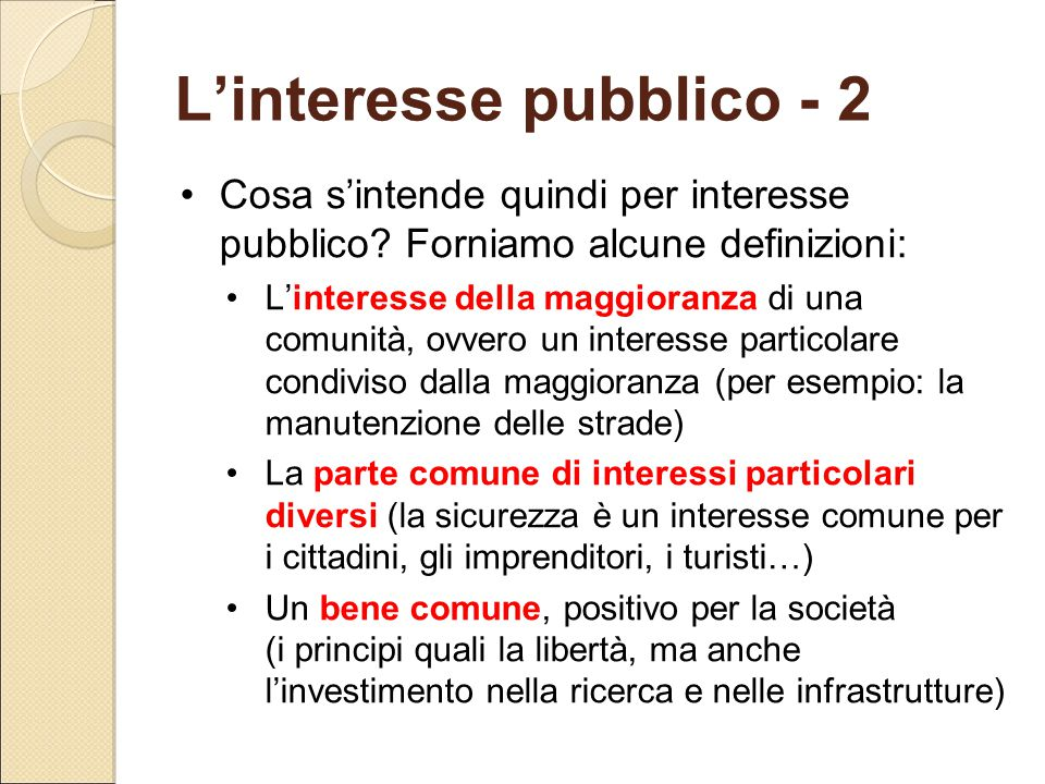 L'interesse pubblico - 2