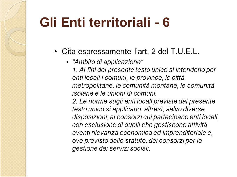 Gli Enti territoriali - 6