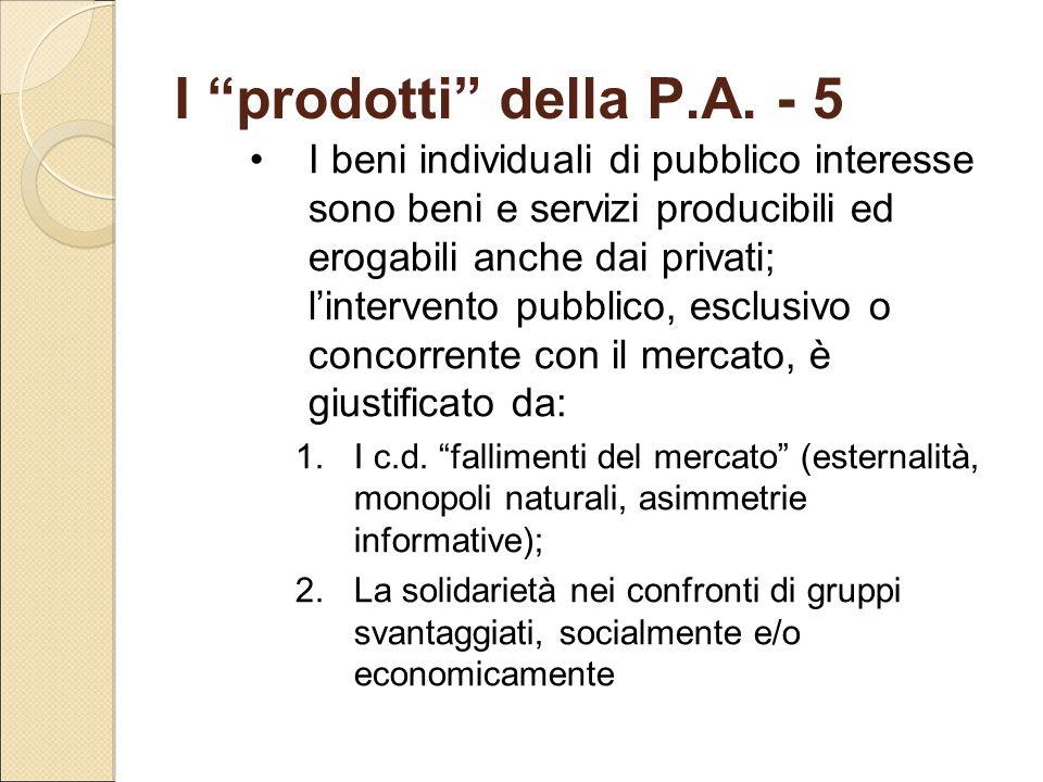 I prodotti della P.A. - 5