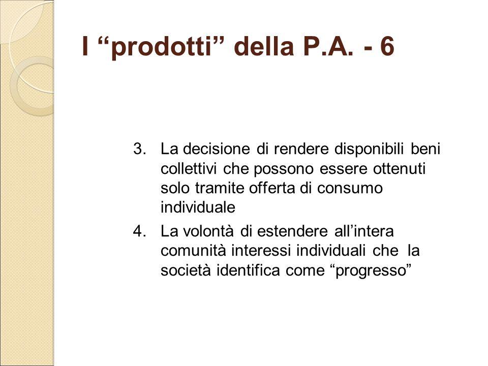 I prodotti della P.A. - 6