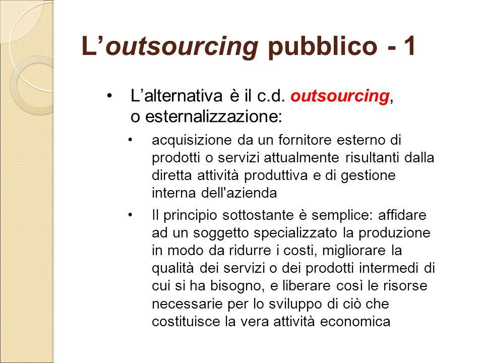 L'outsourcing pubblico - 1