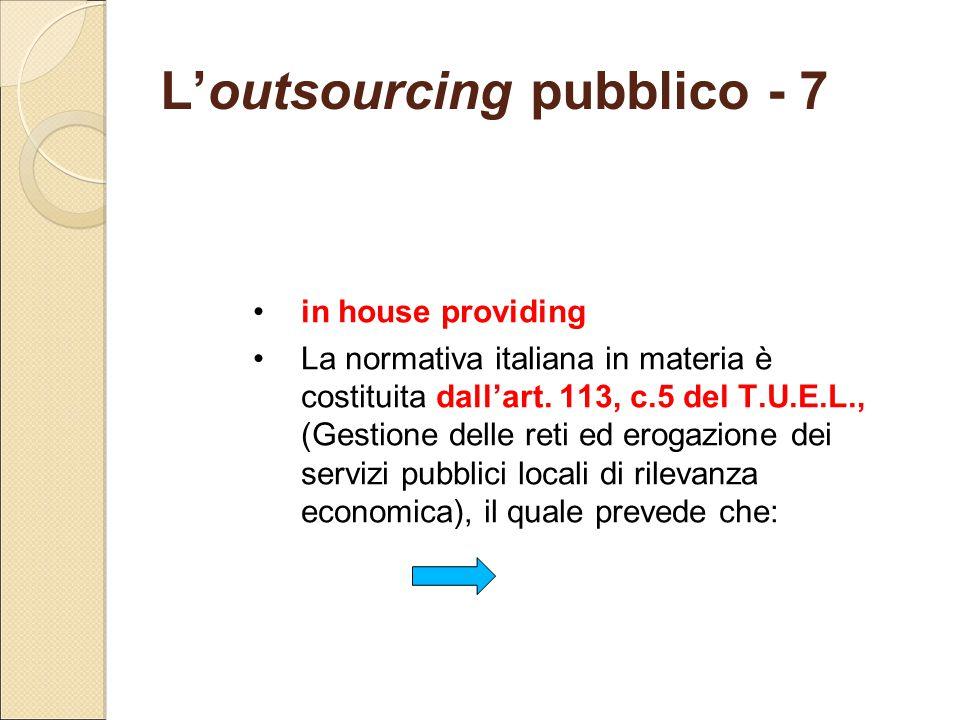 L'outsourcing pubblico - 7