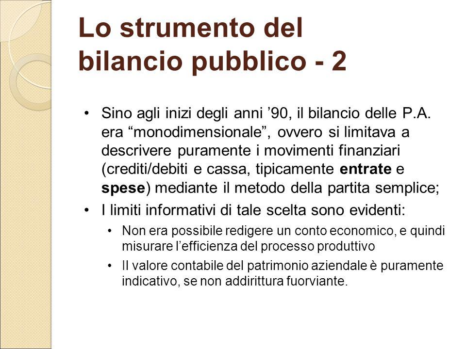 Lo strumento del bilancio pubblico - 2