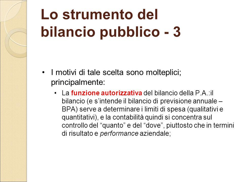 Lo strumento del bilancio pubblico - 3