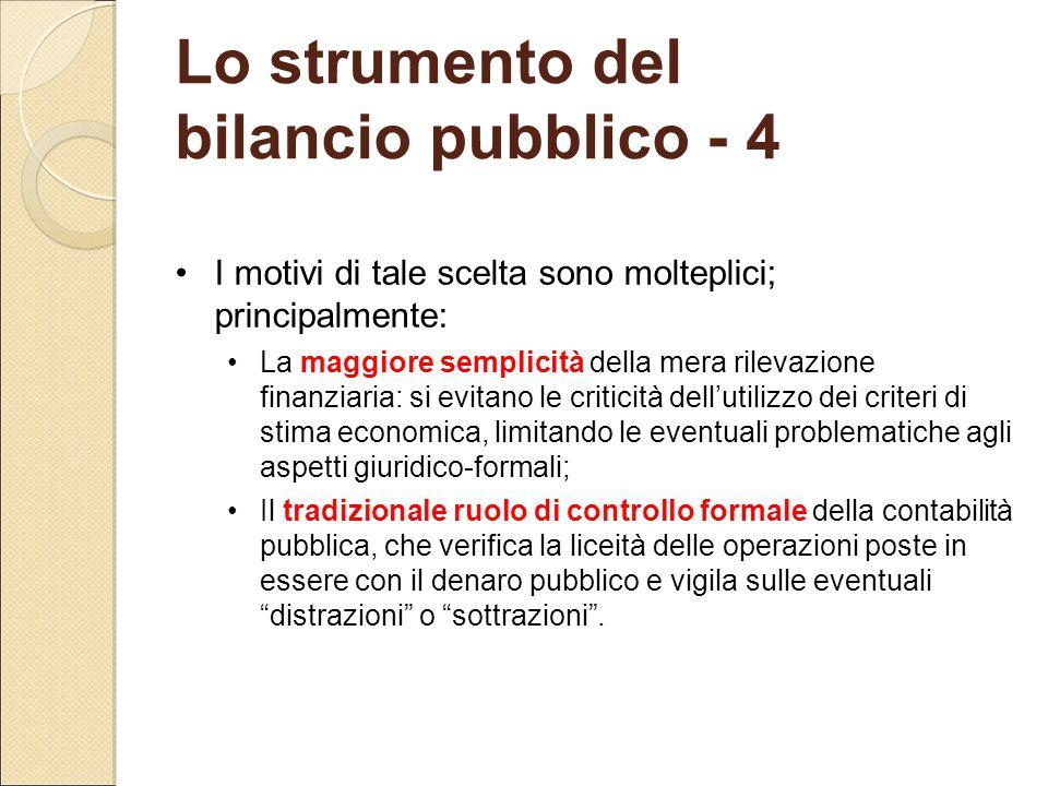 Lo strumento del bilancio pubblico - 4