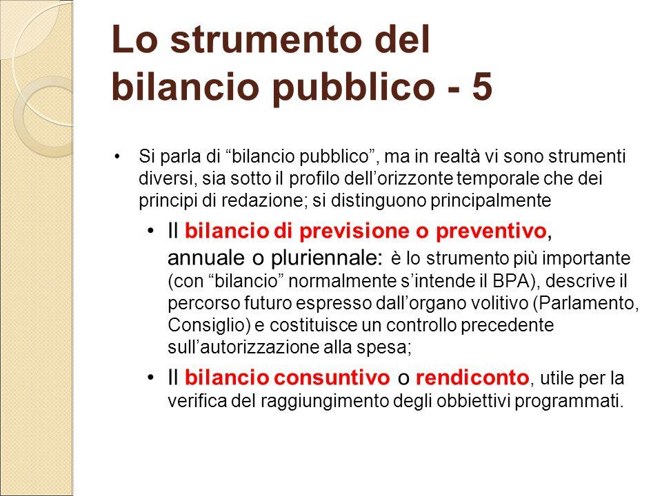 Lo strumento del bilancio pubblico - 5