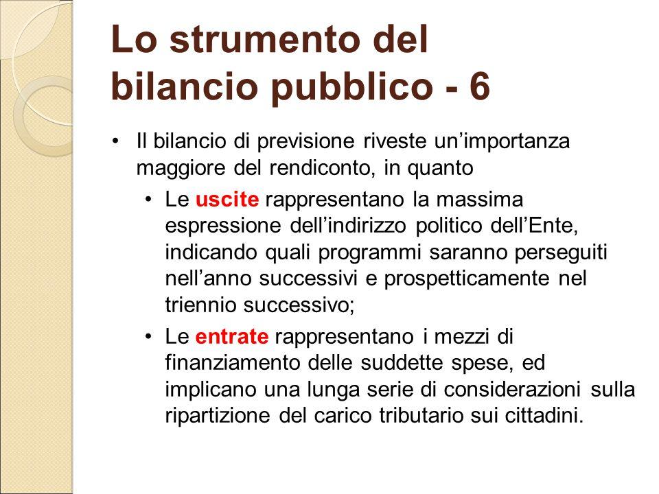 Lo strumento del bilancio pubblico - 6