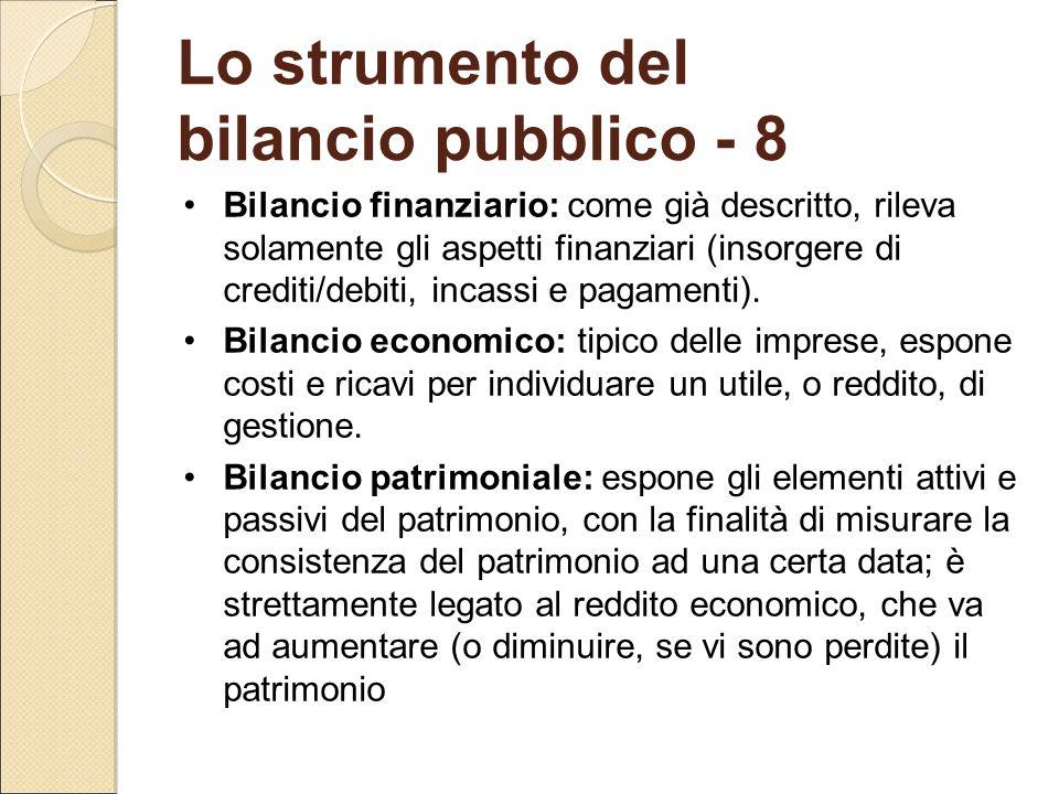 Lo strumento del bilancio pubblico - 8