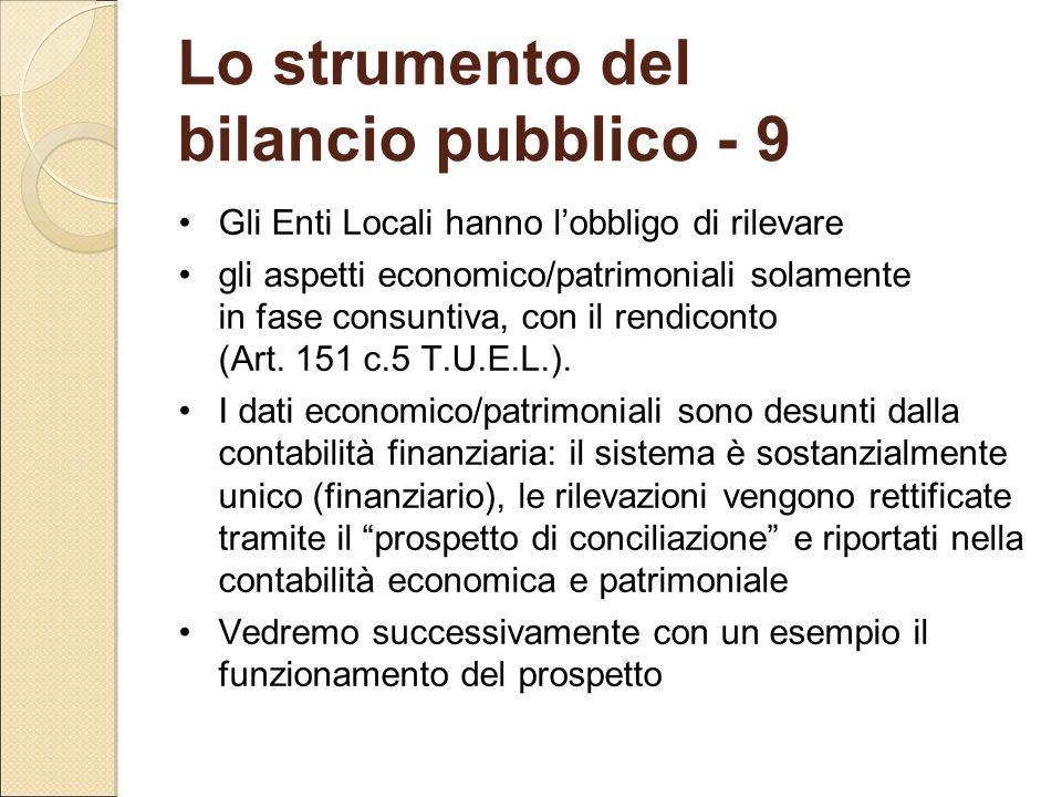 Lo strumento del bilancio pubblico - 9