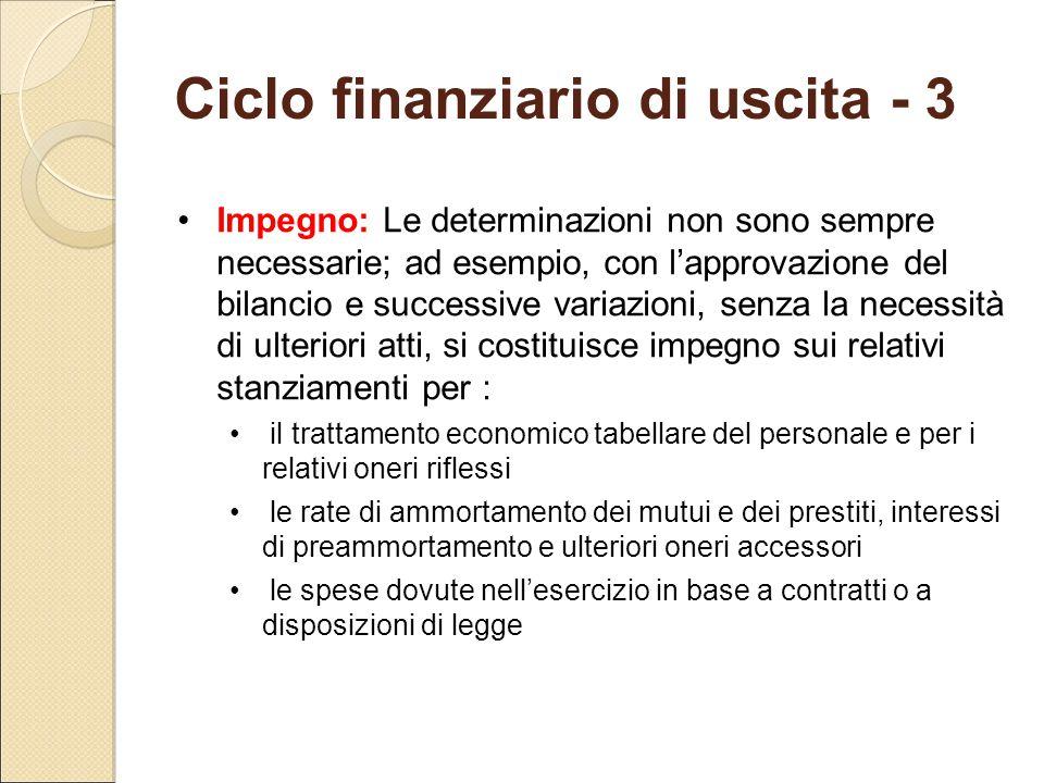 Ciclo finanziario di uscita - 3
