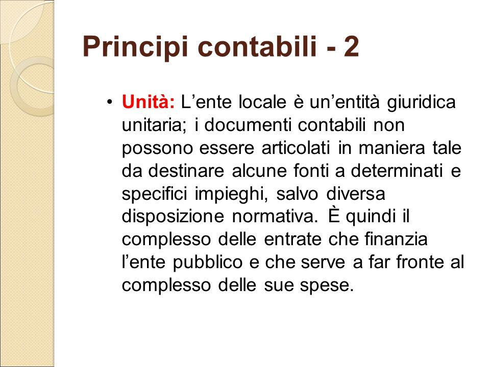 Principi contabili - 2