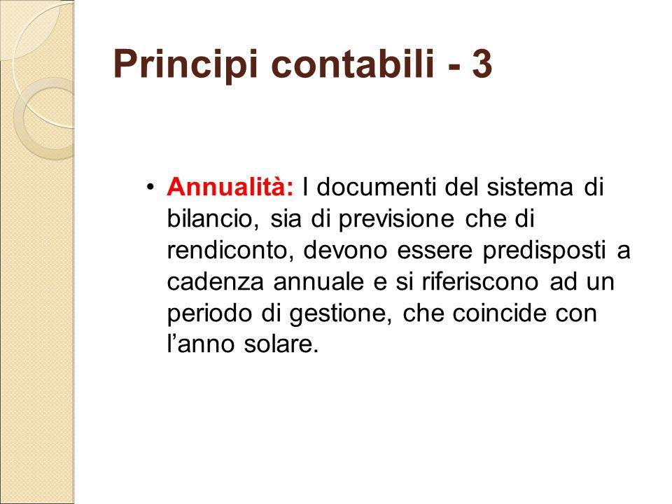 Principi contabili - 3