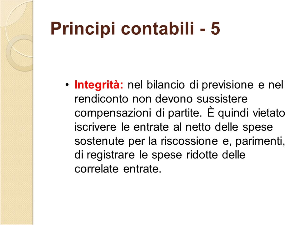 Principi contabili - 5