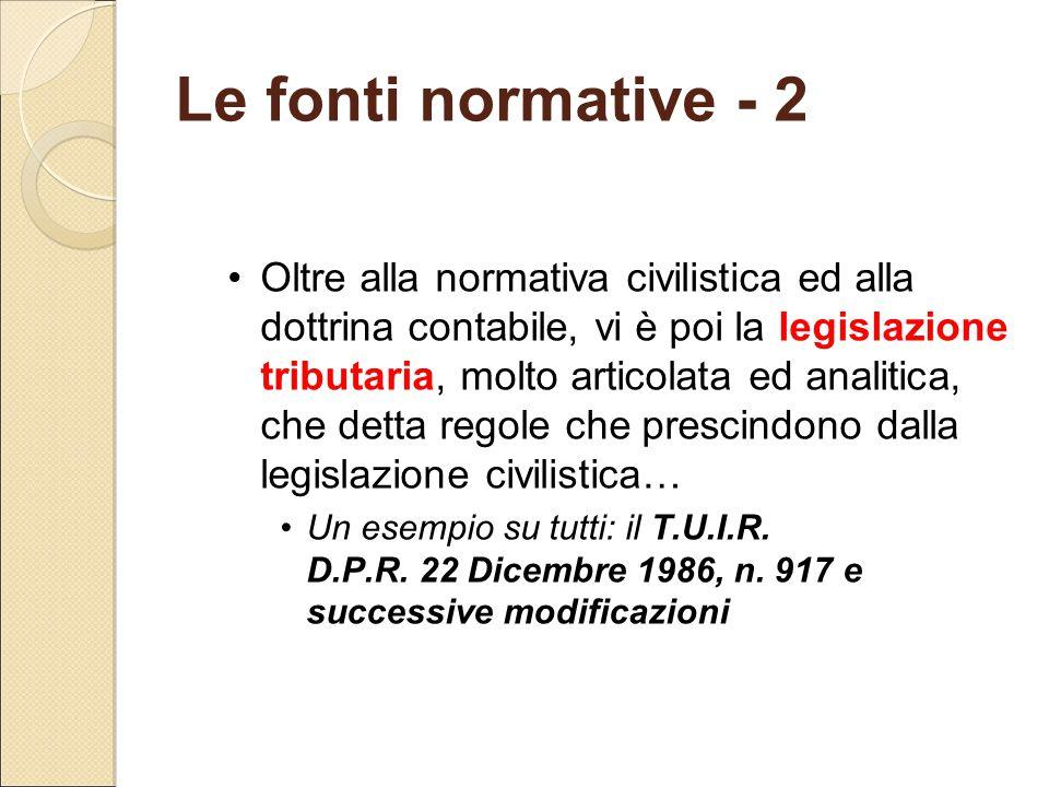 Le fonti normative - 2
