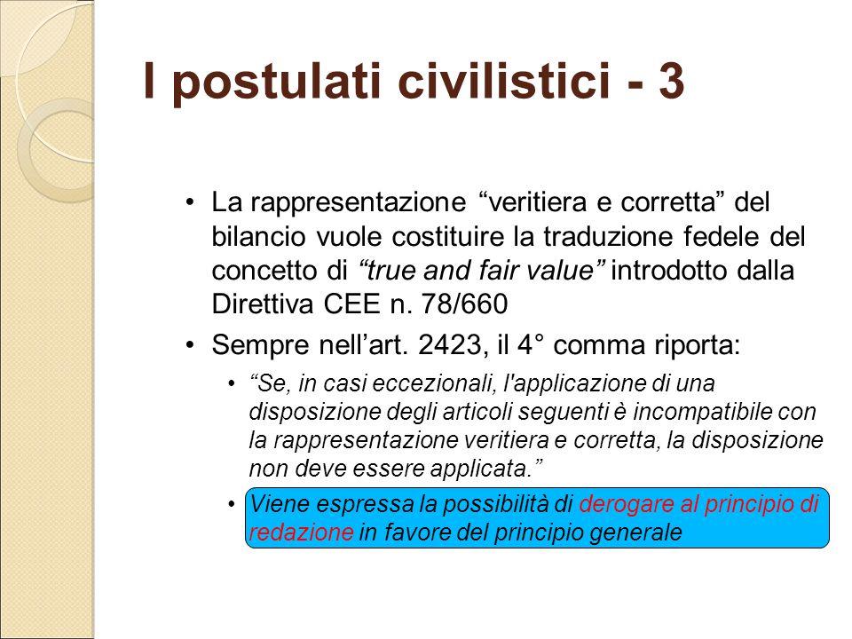 I postulati civilistici - 3