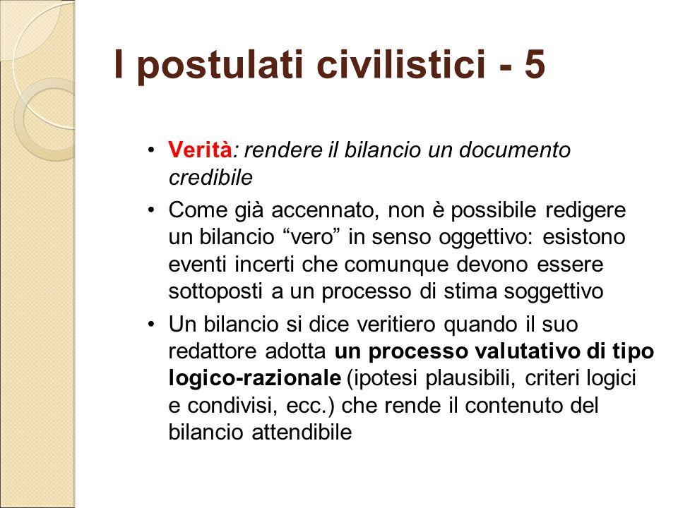 I postulati civilistici - 5