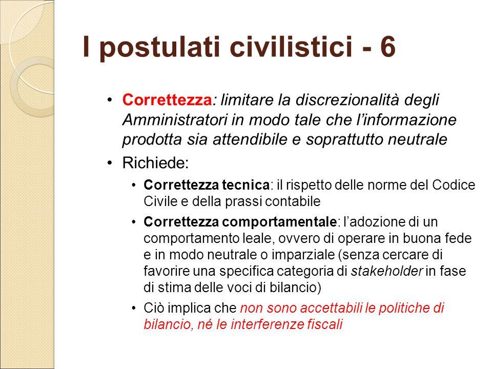 I postulati civilistici - 6