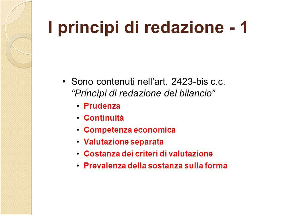 I principi di redazione - 1