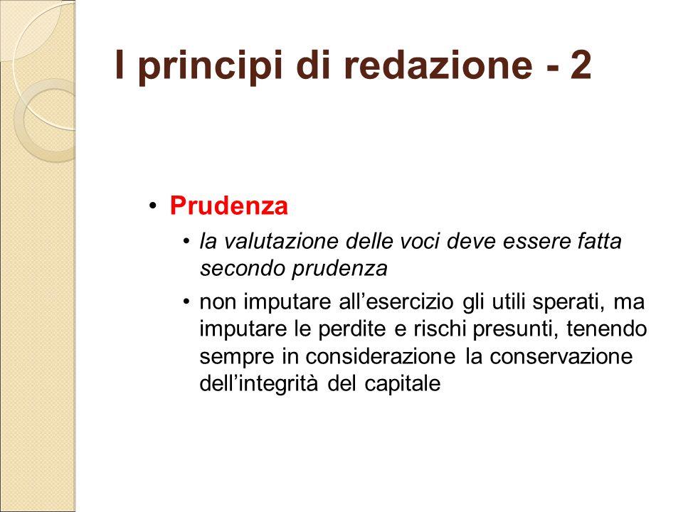 I principi di redazione - 2