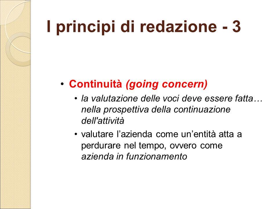 I principi di redazione - 3