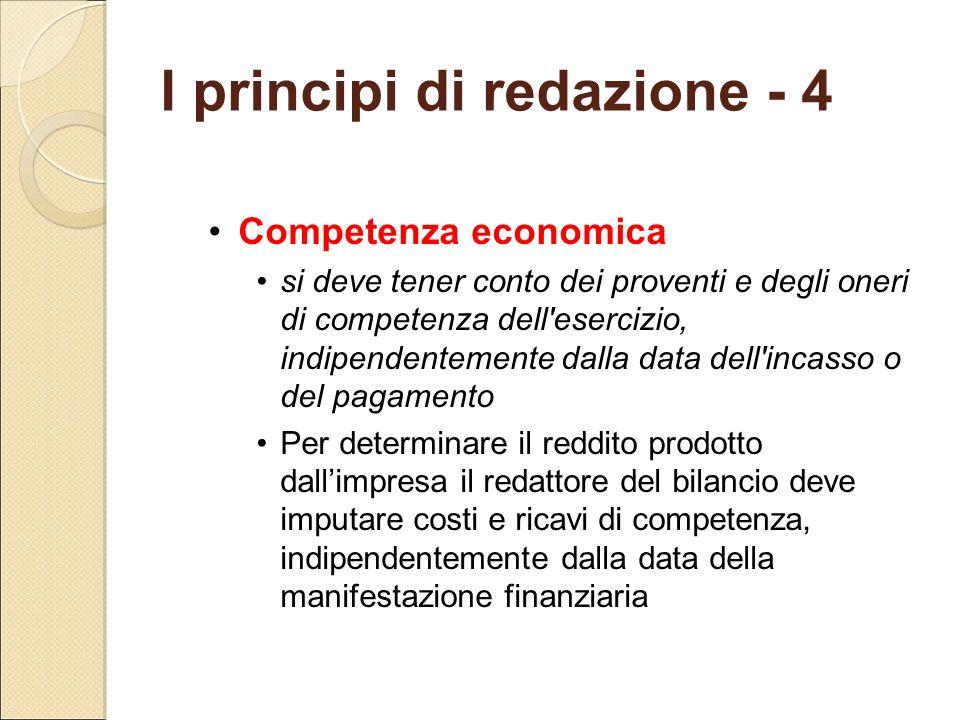 I principi di redazione - 4