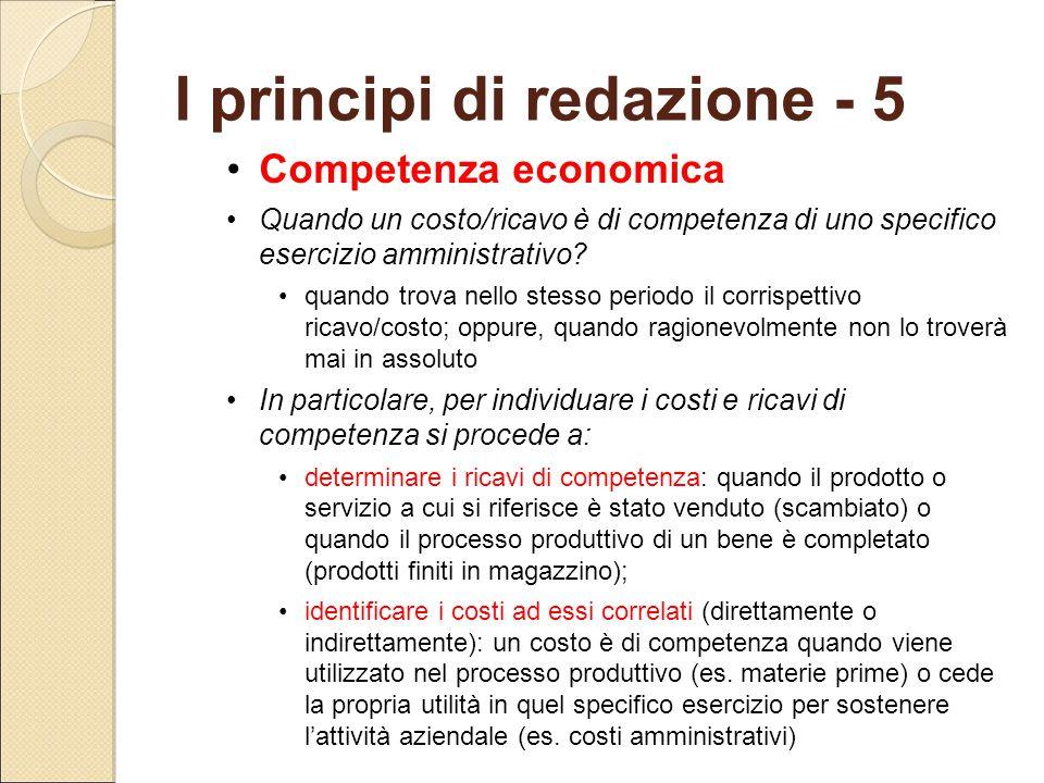 I principi di redazione - 5
