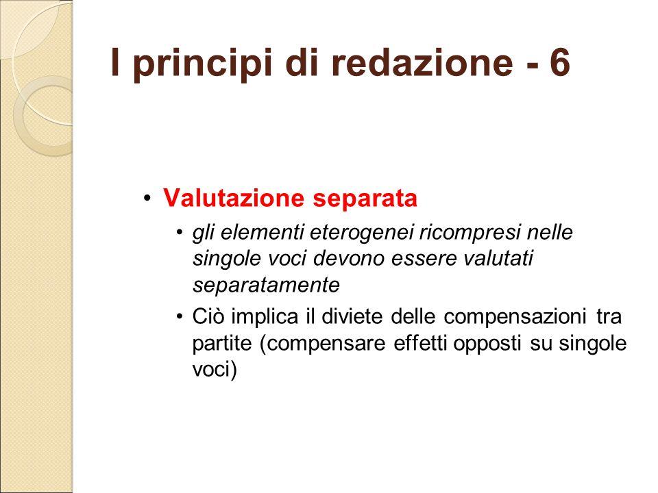 I principi di redazione - 6