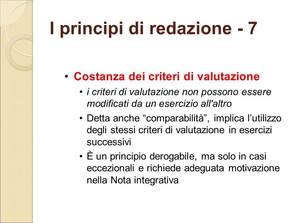 I principi di redazione - 7