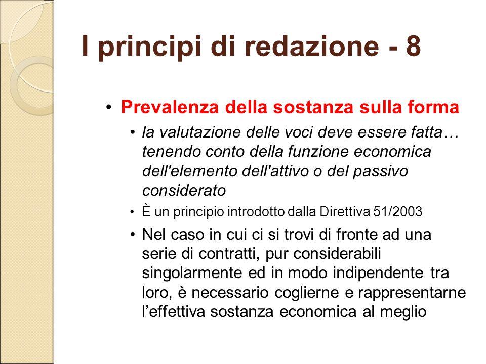 I principi di redazione - 8