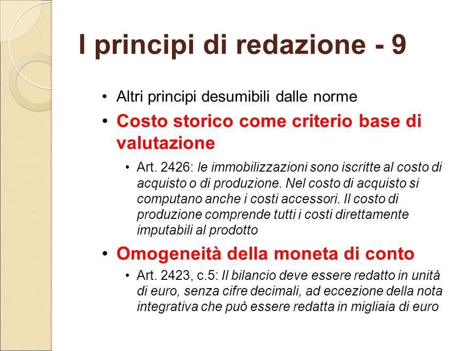I principi di redazione - 9