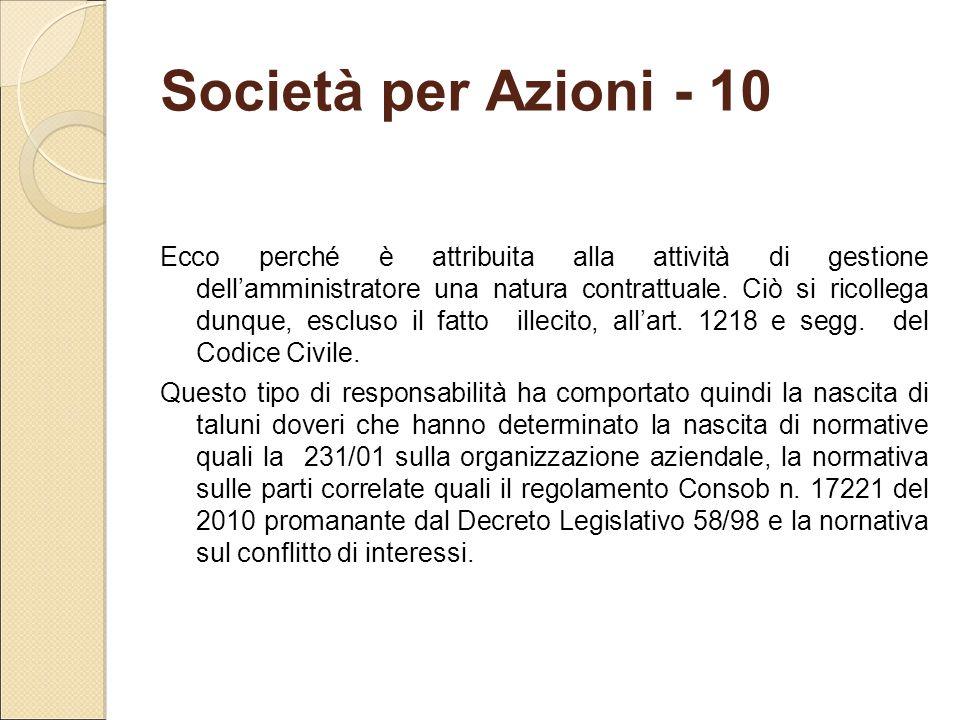 Società per Azioni - 10