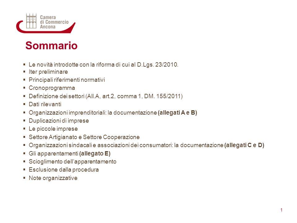 Sommario Le novità introdotte con la riforma di cui al D.Lgs. 23/2010.