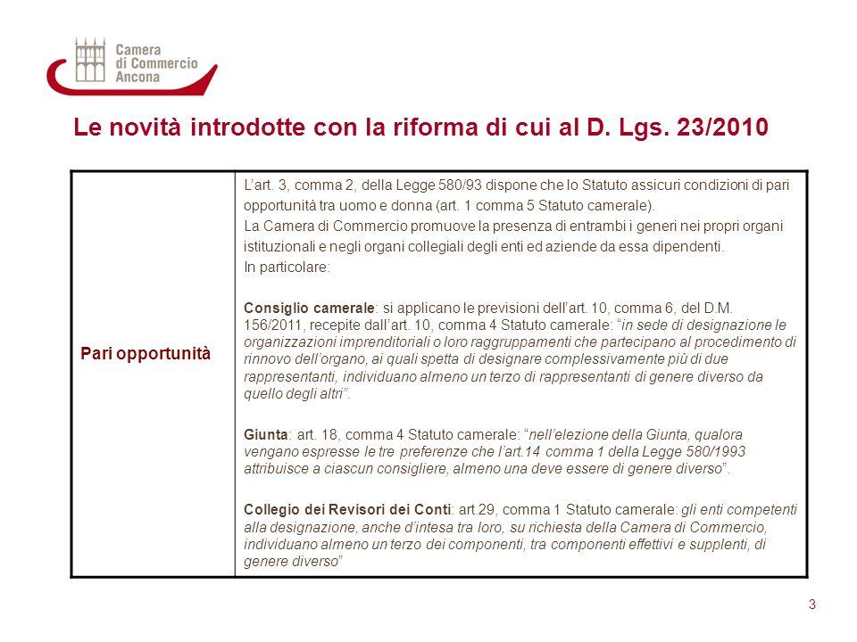 Le novità introdotte con la riforma di cui al D. Lgs. 23/2010