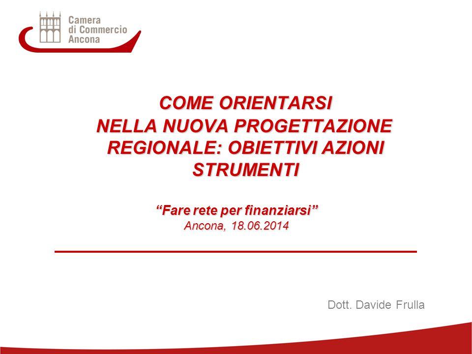 COME ORIENTARSI NELLA NUOVA PROGETTAZIONE REGIONALE: OBIETTIVI AZIONI STRUMENTI. Fare rete per finanziarsi