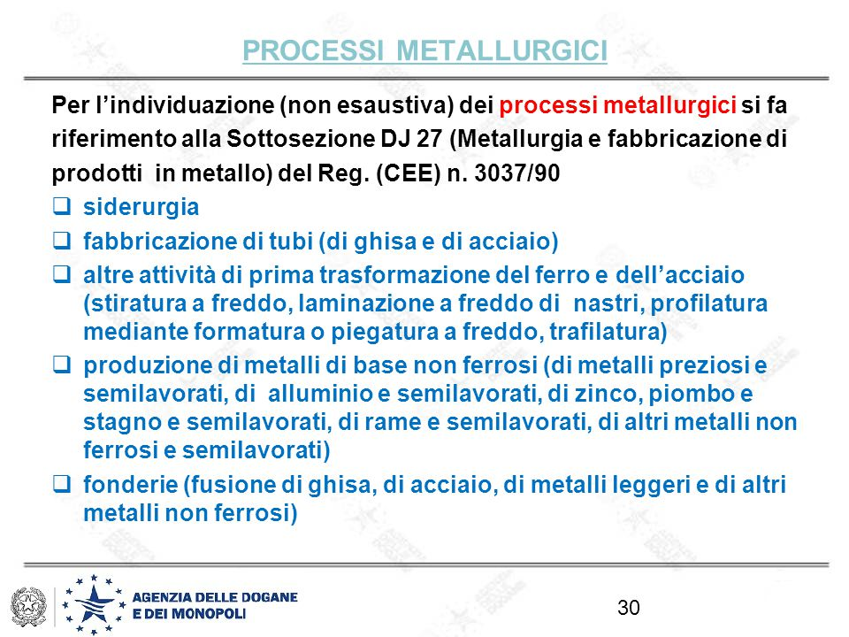 processi metallurgici