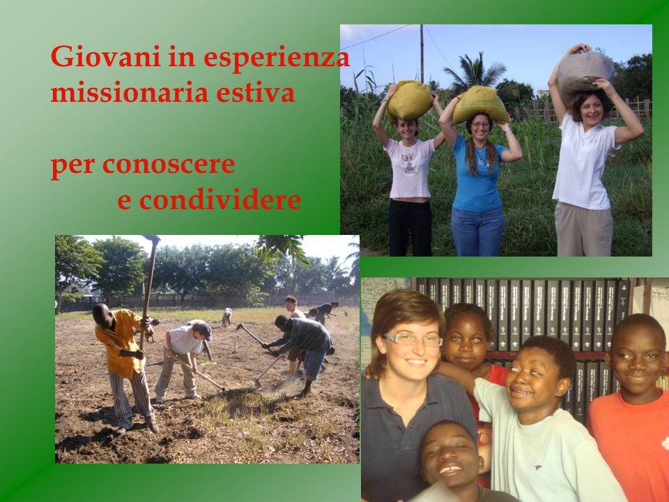 Giovani in esperienza missionaria estiva